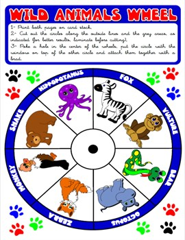 #WILD ANIMALS WHEEL