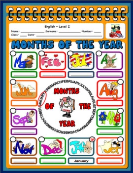 MONTHS WORKSHEET#