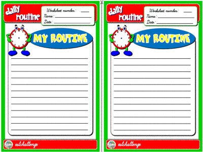 ROUTINE WORKSHEET