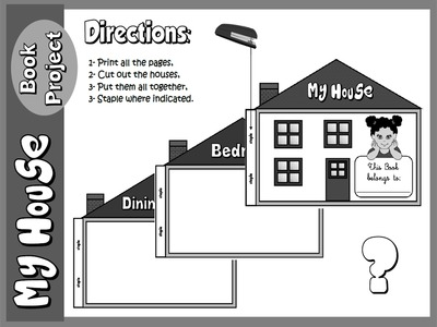 My House - Book Project Directions (B&W version)