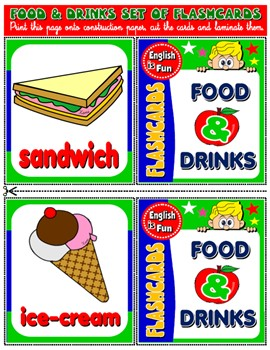 #FOOD AND DRINKS FLASHCARDS (21 FLASHCARDS)