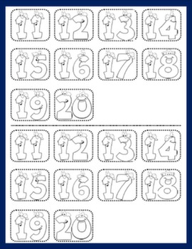 CARDINAL NUMBERS PICTURE DICTIONARY (CUTOUTS)#
