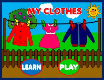 #MY CLOTHES - PPT PRESENTATION + GAME
