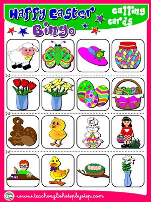 EASTER BINGO - CALLING CARDS