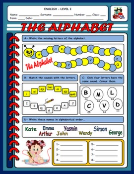 THE ALPHABET WORKSHEET#
