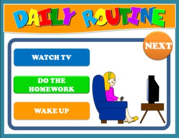 DAILY ROUTINE PPT GAME + PRESENTATION
