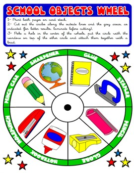 SCHOOL OBJECTS WHEEL