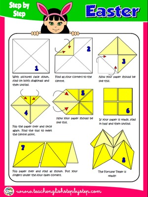 EASTER FORTUNE TELLER - DIRECTIONS