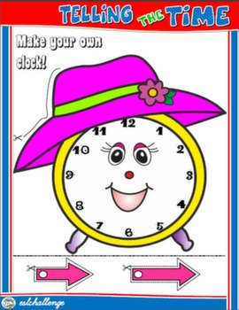 TELLING THE TIME CRAFTS CLOCK FOR GIRLS