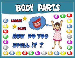 PARTS OF THE BODY PPT GAME + PRESENTATION