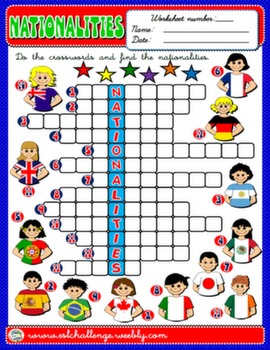 #NATIONALITIES WORKSHEET