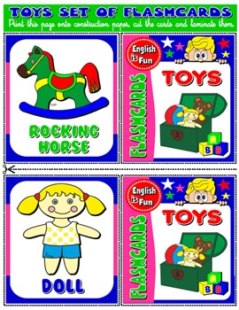 #TOYS FLASHCARDS (15 FLASHCARDS)