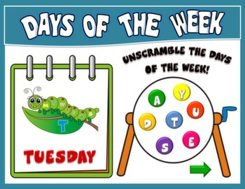 DAYS OF THE WEEK PPT GAME + PRESENTATION#