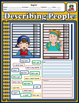 DESCRIBING PEOPLE WORKSHEET#