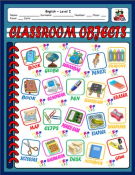 SCHOOL OBJECTS PICTURE DICTIONARY#