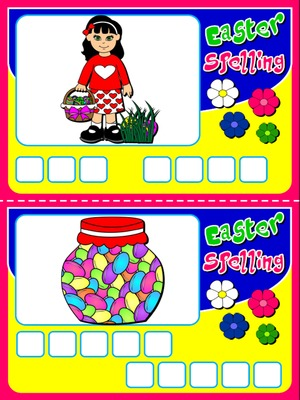 EASTER SPELLING GAME (16 CARDS)
