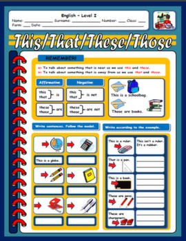 DEMONSTRATIVES WORKSHEET#
