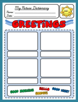 GREETINGS PICTURE DICTIONARY FOR 2ND GRADERS#
