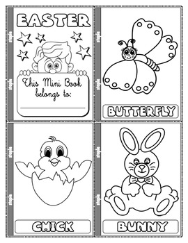 #EASTER COLOURING MINI BOOK (13 PAGES)