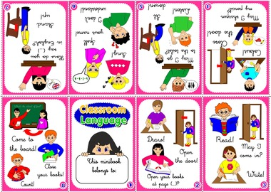CLASSROOM LANGUAGE MINIBOOK FOR BOYS (AVAILABLE IN BLACK & WHITE)