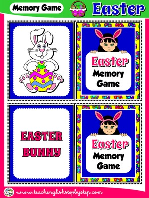 EASTER MEMORY GAME (32 CARDS - PICTURES + WORDS)