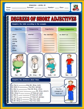 DESCRIBING PEOPLE WORKSHEET (ADJECTIVES)#
