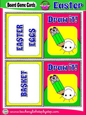 EASTER BOARD GAME 2 - DRAW IT! CARDS