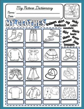 CLOTHES PICTURE DICTIONARY#