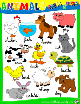 FARM ANIMALS PICTURE DICTIONARY