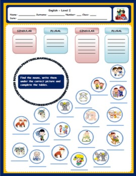 PLURALS WORKSHEET#