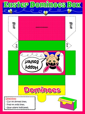 EASTER DOMINOES - DOMINOES BOX