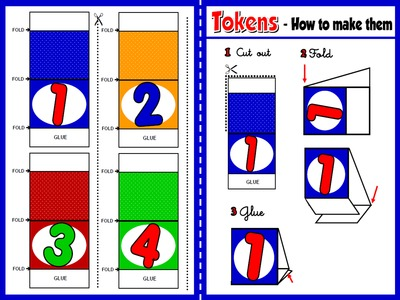 Numbers - Board Game Tokens