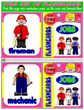 JOBS AND OCCUPATIONS FLASHCARDS (18 FLASHCARDS)