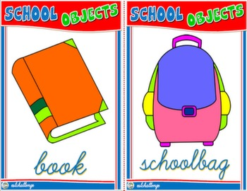 SCHOOL OBJECTS FLASHCARDS