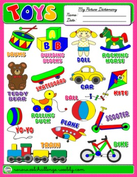 #TOYS PICTURE DICTIONARY