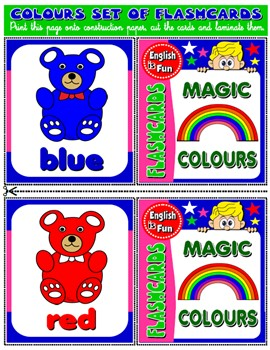 #COLOURS FLASHCARDS ( 11 FLASHCARDS)