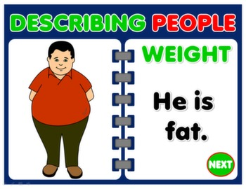 DESCRIBING PEOPLE  - PPT PRESENTATION- LEARNING SPOT