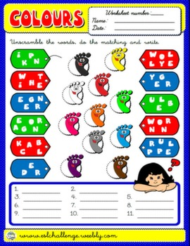 #COLOURS WORKSHEET