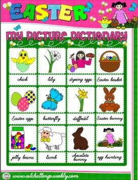 #EASTER PICTURE DICTIONARY