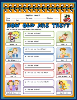 #NUMBERS AND AGE WORKSHEET