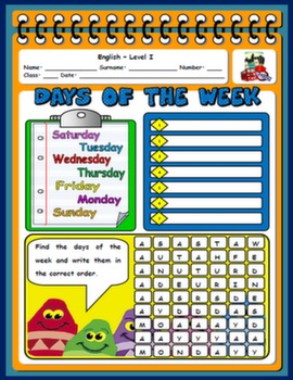 DAYS OF THE WEEK WORKSHEET#
