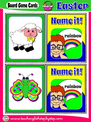 EASTER BOARD GAME 2 - NAME IT! CARDS