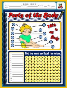 PARTS OF THE BODY WORKSHEET#