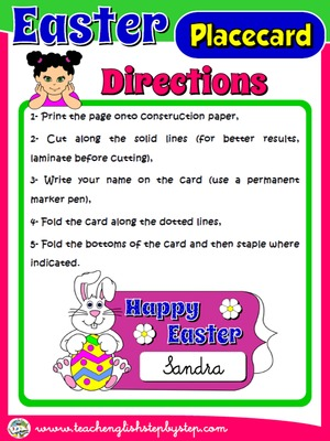 EASTER PLACECARD - DIRECTIONS