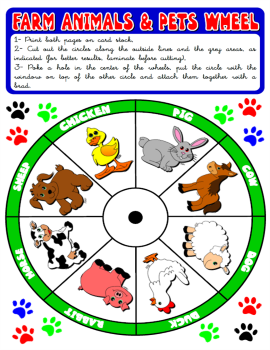 #FARM ANIMALS & PETS WHEEL