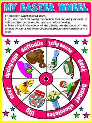 EASTER VOCABULARY WHEEL