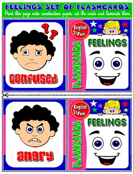 #FEELINGS FLASHCARDS (12 FLASHCARDS)
