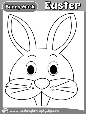 EASTER BUNNY MASK FOR BOYS