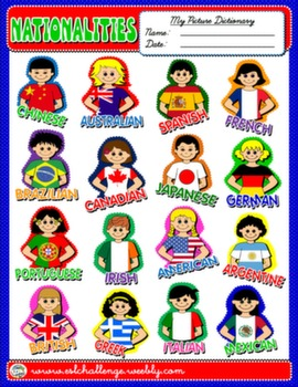 #NATIONALITIES PICTURE DICTIONARY