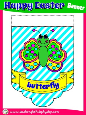 EASTER VOCABULARY  CLASSROOM BANNER